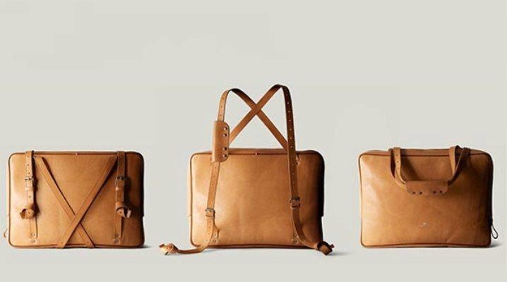 Elegante bolso transformador para hombre y mujer.