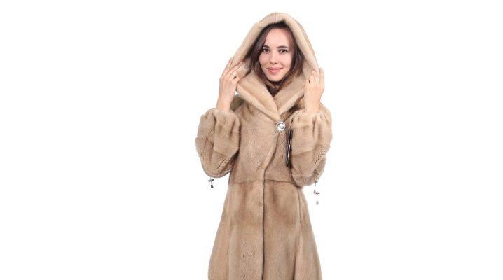 Îmbrăcăminte lungă de blană pentru doamnele elegante