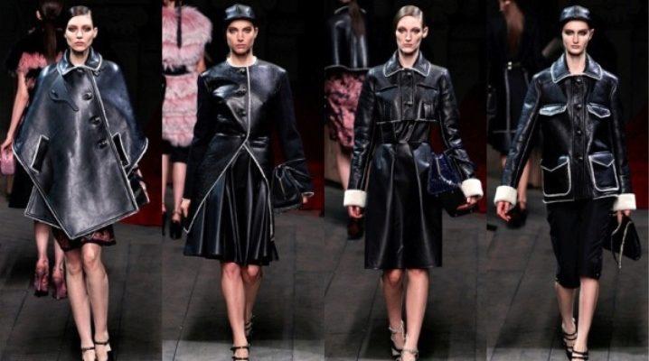 Manteau en peau de mouton noir