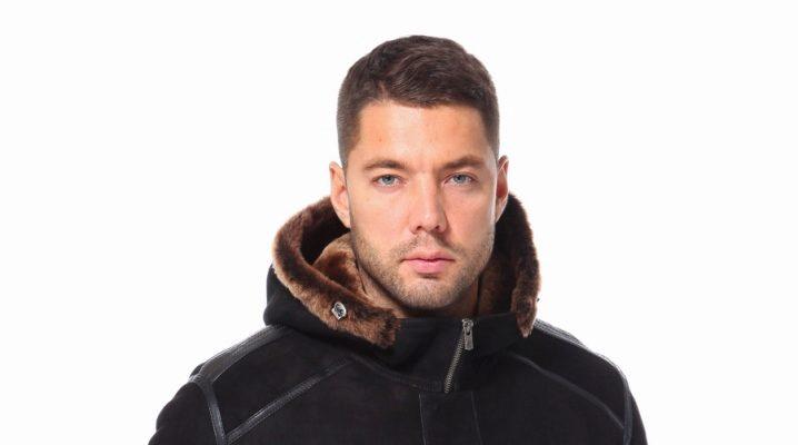 Manteau en peau de mouton avec capuche
