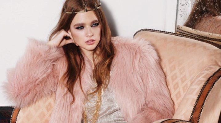 Roz buchet de blană - amestec de feminitate, chic și glamour