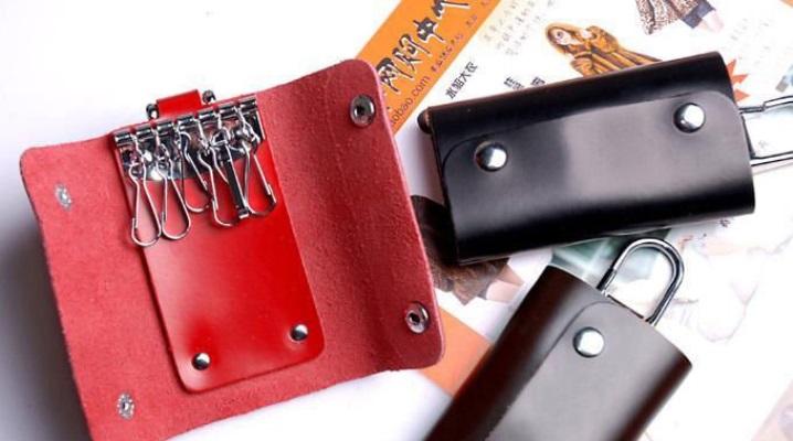 Porte-clés en cuir pour hommes et femmes