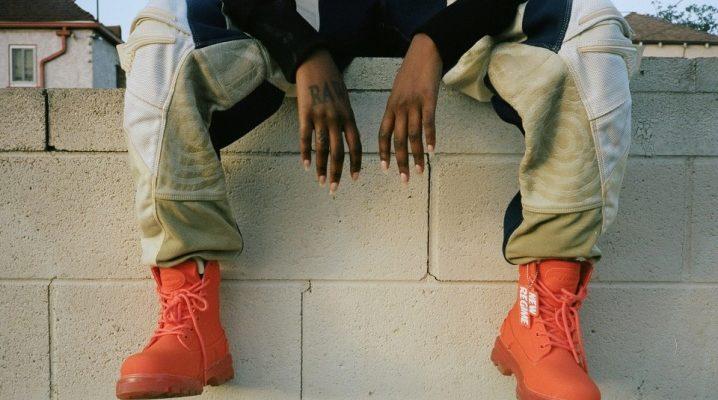 Chaussures orange