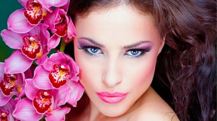 Maquillaje en rosa