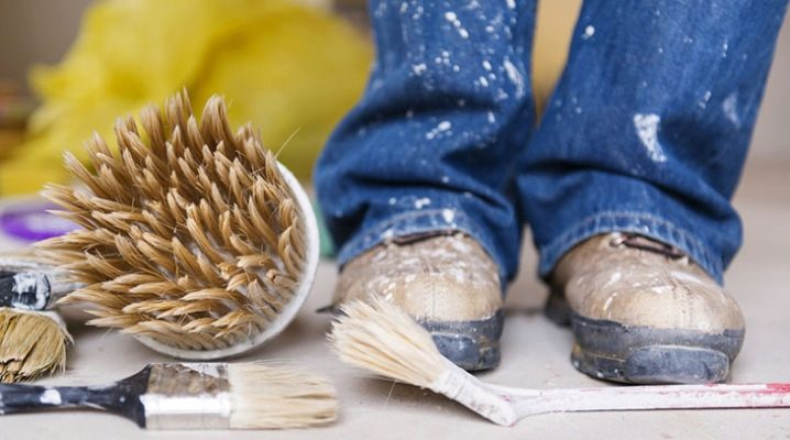 How to scrub paint: ways to remove stains