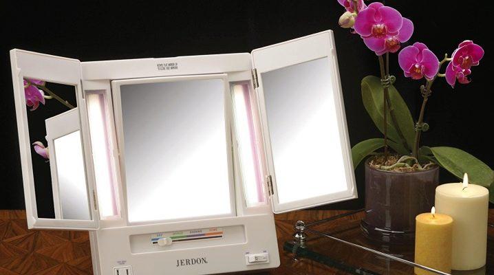 Miroirs de table: types et caractéristiques de base
