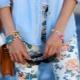 Jeans avec un motif