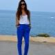 Pantaloni albastri pentru femei
