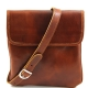 Fashionable men's bags through a shoulder from genuine leather