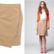 Que puis-je porter avec une jupe crayon beige?