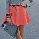 What to wear with a coral skirt?