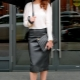 What can I wear with a leather pencil skirt?