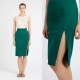 What can I wear with a green pencil skirt?