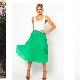 Quoi porter avec une jupe demi-soleil - images stylées