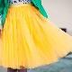Que porter avec une jupe jaune?