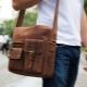 Men's bags through the shoulder fabric