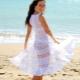 Robe de plage blanche