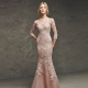 Long evening dress with lace