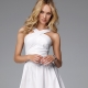 Short white dress - universal model