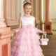 Elegant dress from tulle for girls