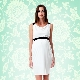 Stylish white dress for pregnant women