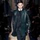 Manteau en cuir pour hommes