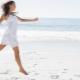 Stylish white summer dress