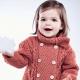 Pletený kabát pre dievčatá