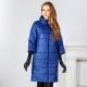 Dámsky kabát na syntetickom zimnom období