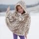Manteau en fourrure de lapin pour fille