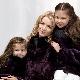 Manteaux de fourrure pour les filles à partir de fourrure naturelle