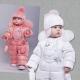 Pakaian musim sejuk kanak-kanak untuk gadis itu