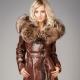Manteaux de cuir des femmes