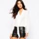 Fashionable leather shorts 2019