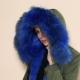 Parka Fourrure Bleue