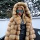 Manteau de fourrure de renard arctique