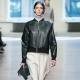Women's Leather Bomber Jacket