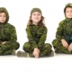 Children's camouflage suit