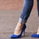 Čo môžem nosiť s dámskymi modrými topánkami?