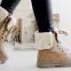 Bottes d'hiver en cuir pour femmes