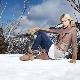 Bottes d'hiver en daim pour femmes