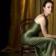 Makeup under the green dress