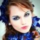 Trucco blu