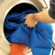How to wash a jacket on a padding polyester in a washing machine?