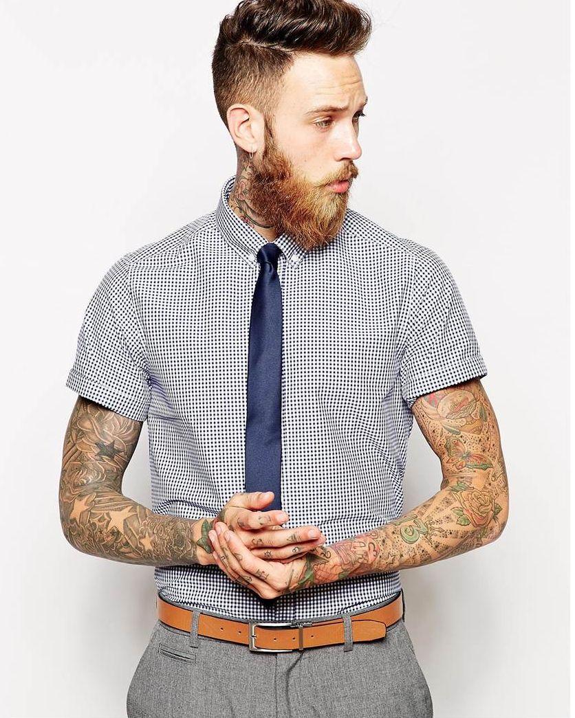 2019 meilleurs mode de vente chaude Los Angeles Une chemise à manches courtes et une cravate (41 photos ...