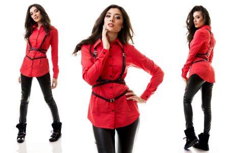 Crvena košulja (56 fotografija): s onim što obući, s kravatom i leptir  mašnom, s odijelom, suknju, hlače, hlače, traperice